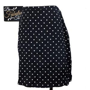 Vintage NWT Black & White Polkadot Skirt